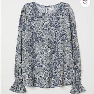 H&M x William Morris floral blouse